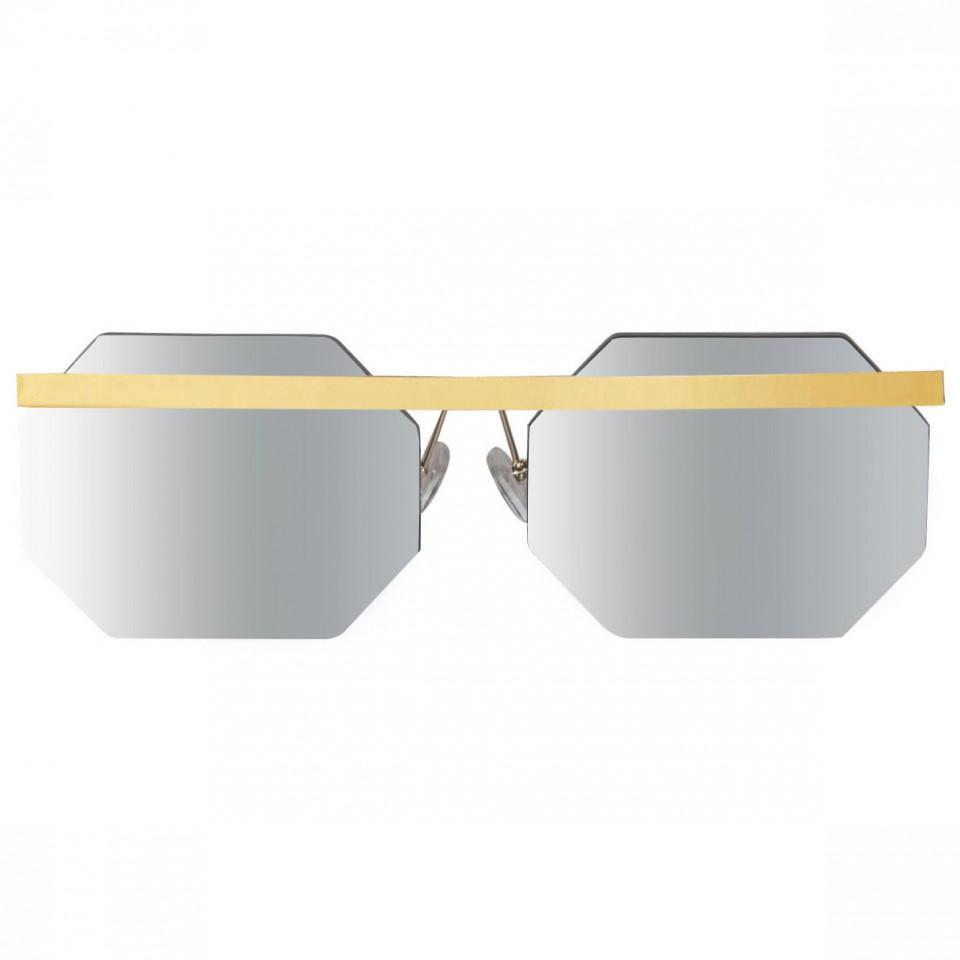 Octagon Gold Flash Silver