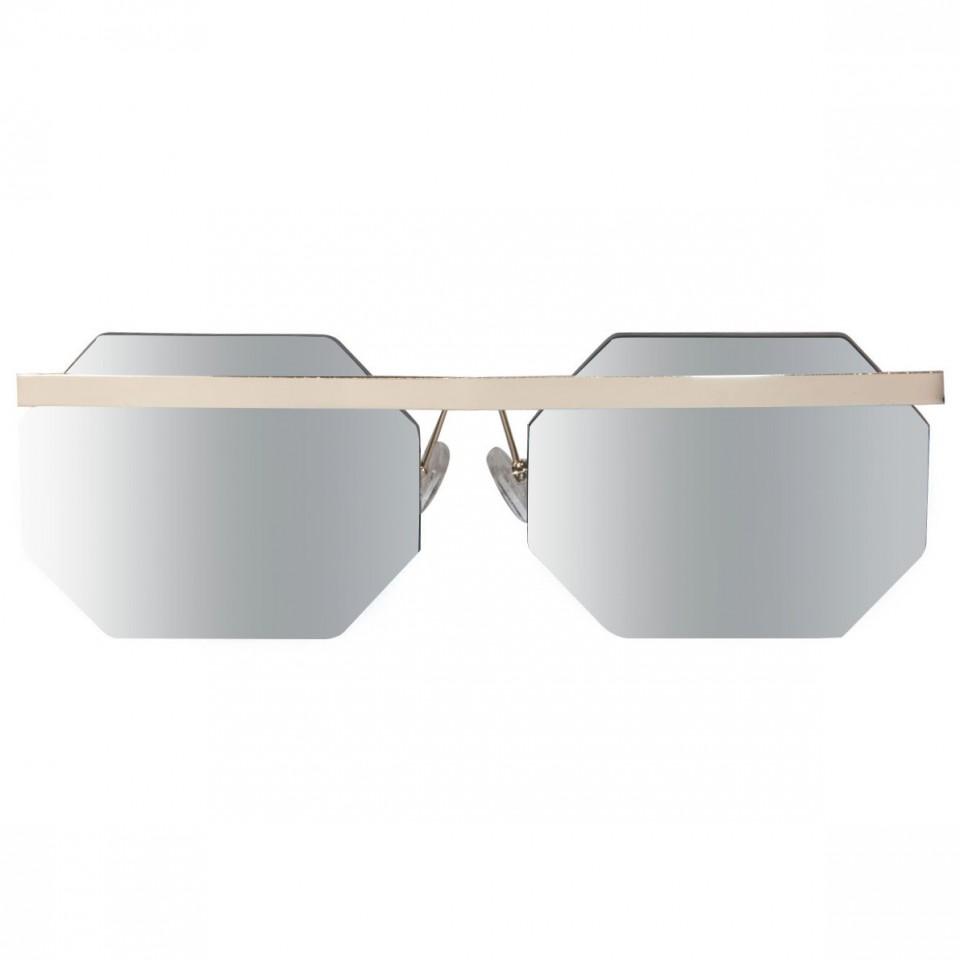 prezzo competitivo 76a31 19db8 occhiali da sole esagonali, barra in metallo, occhiali uomo metallo