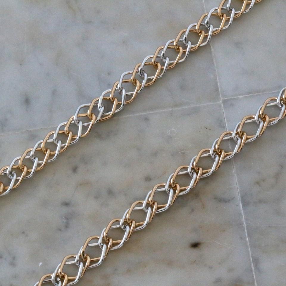 Chain BICOLOR SILVER GOLD